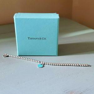 Tiffany & Co. .925 Enamel Mini Heart Bead Bracelet